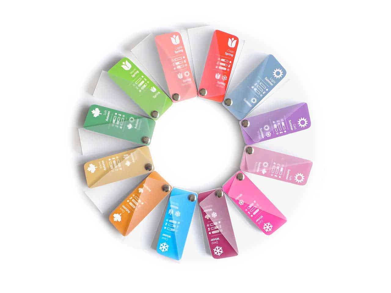 12 seasonal color fan range
